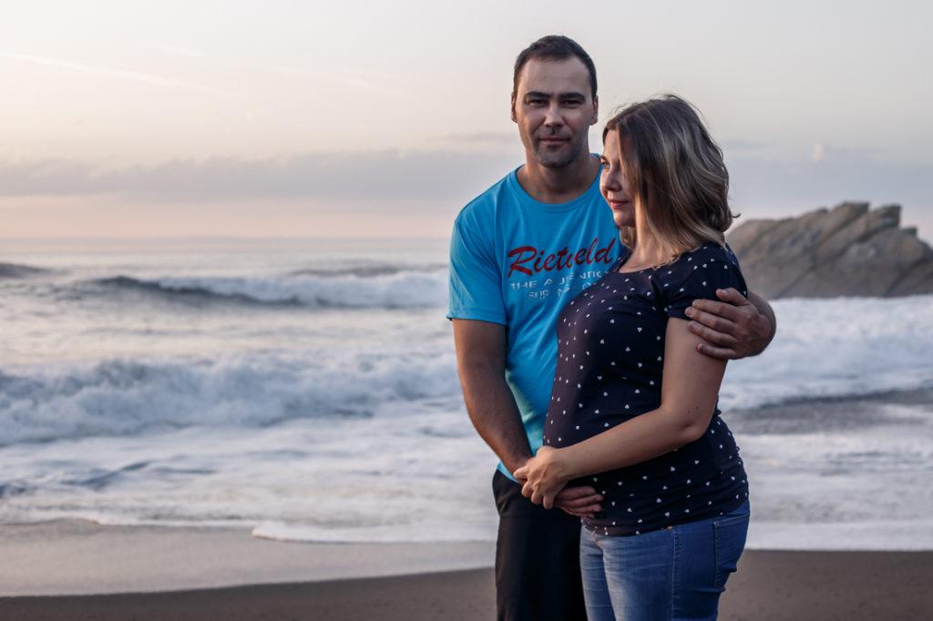 Sesión de embarazo en azkorri getxo